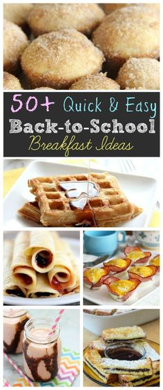 50+ Quick & Easy Back to School Breakfast Recipe Ideas - Diary of a Recipe Collector