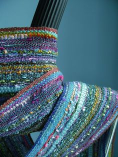colorful woven scarf