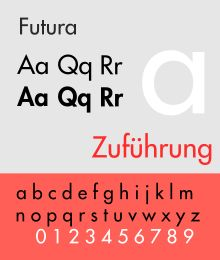 In typography, Futura is a geometric sans-serif typeface designed in 1927[1] by Paul Renner. It is based on geometric shapes that became representative of visual elements of the Bauhaus design style of 1919–1933.[2] Commissioned by the Bauer Type Foundry, in reaction to Ludwig & Mayer's seminal Erbar of 1922, Futura was commercially released in 1936.