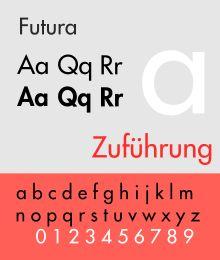 Schriftbeispiel für Futura