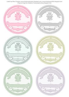 DIY Wedding Printables: Free Vintage Labels~ these would be cute as stickers for the back of the favor bags?