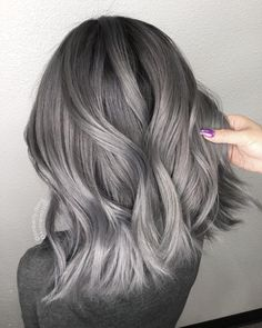 gray hair Gray Wigs Hair Blue Hair Dye For Grey HairSudden Grey Hair wigsshort Silver Hair Dye, Dyed Hair Blue, Dark Silver Hair, Ash Grey Hair Dye, Ash Blonde, Silver Hair Colors, Silver Hair Asian, Platinum Blonde, Spring Hairstyles