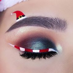 Creative And Gorgeous Christmas Makeup Ideas For The Big Holiday; Christmas Makeup Looks; Holiday Makeup Looks; Mascara, Eyeliner, Eyeshadow, Blue Makeup, Makeup Art, Makeup Ideas, Glitter Makeup, Party Makeup, Wedding Makeup
