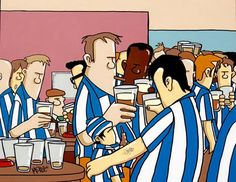 Sheffield Wednesday Fans by Pete McKee Music Film, Art Music, Pete Mckee, Sheffield Art, Sheffield Wednesday Fc, Football Design, A Level Art, Yorkshire England, Yorkshire