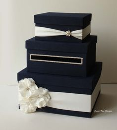 Wedding Card Box Money Box Gift Card Holder  by jamiekimdesigns, $109.00 ....(pretty sure I could DIY this for $10)