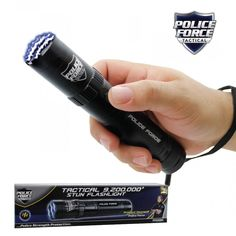 Buy a Streetwise tactical flashlight stun gun black from ProtectnPrep. Police force inspired stun gun flashlight with volts and includes all the needed accessories. Features an internal rechargeable battery and bright LED light with defensive strobe mode. Best Self Defense, Guns And Ammo, Survival Prepping, Led Flashlight, Police, Good Things, Compact, Technology, Bar