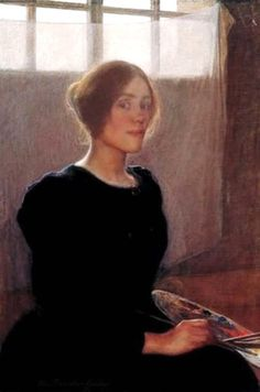 Elin Kleopatra Danielson-Gambogi (Finnish, 1861-1919), Self Portrait