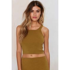 Body Conversation Crop Top ($27) ❤ liked on Polyvore featuring tops, green, halter crop top, bodycon crop top, halter neck crop top, halterneck top und green top
