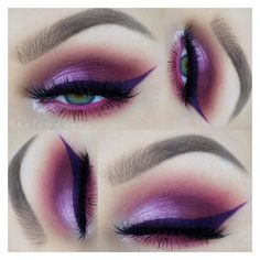 Purple Eyeliner Becomes The New Trend | MakeUpJournal.com ❤ liked on Polyvore featuring beauty products, makeup, eye makeup and eyeliner