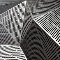 Creative Architecture, Structure, Steel, Form, and Pattern image ideas & inspiration on Designspiration Art And Architecture, Architecture Details, Amazing Architecture, Steel Image, Architectural Materials, Perforated Metal, Pattern Images, 3d Pattern, Tumblr