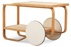 This Aalto trolley is special. Tiny Furniture, Bespoke Furniture, Furniture Design, Drink Cart, Modern Interior, Interior Design, Alvar Aalto, My Living Room, Industrial Design