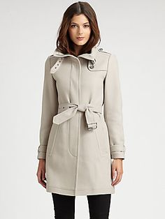Burberry Brit Double-Breasted Coat- perfect jacket for the first holiday snowfall!