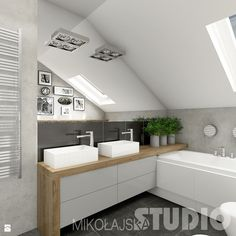 Four Attic Renovation Ideas to Give New Life to Unused Space - Attic Basement Ideas Laundry Room Bathroom, Attic Bathroom, Attic Rooms, Bathroom Renos, Upstairs Bathrooms, Contemporary Bathrooms, Modern Bathroom, Small Bathroom, Bad Inspiration