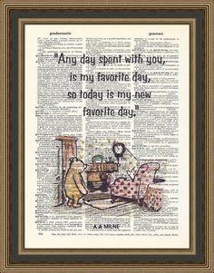 Winnie The Pooh Zitat jeden Tag mit Ihnen verbracht auf