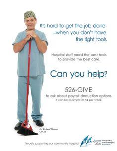Promo for Georgian Bay General Hospital Richard Thomas, Creative Hub, Can You Help, Hard To Get, General Hospital, Get The Job, Georgian, Ontario, Social Media