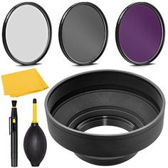 Introducing PRO 52mm Filter Kit  PRO 52 mm Rubber Lens Hood for Nikon AFS Nikkor 200mm f2G EDIF VR  52 mm Polarizing Filter 52mm UV Filter 52mm Florescent Filter  52mm Soft Lens Hood. Great Product and follow us to get more updates!