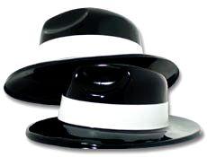 4FunParties.com - Black Gangster Hats $8.24 per dozen