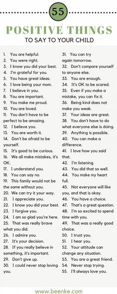 Helpful Positive parenting tips. 55 Positive things to say your kids. Build confidence in your kids with these positive phrases. Parenting Quotes, Kids And Parenting, Parenting Hacks, Parenting Classes, Natural Parenting, Gentle Parenting, Affirmations For Kids, Raising Kids, Child Development