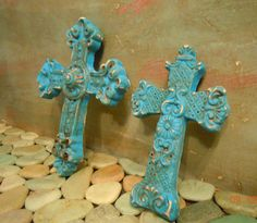 I love crosses. Hand painted and distressed.