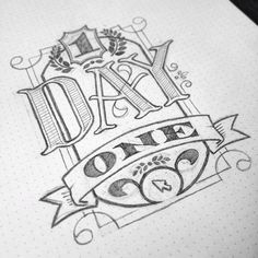 "<3 this typography/hand lettering combo, especially the depth of ""day""."