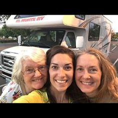 Our tri-generation girls trip is underway! Meet my Granny and my Mom - you'll be seeing more of them over the next seven days as we explore Northern California in this massive clunker rental RV. Aaaand we are spending our first night in a Walmart parking lot before hitting wine country and the coast tomorrow. What ever will come next? I didn't plan any part of this trip. Should I be worried? ;) #threegenerations #ladiesdoCA