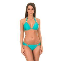 Vix Bia Tube Turquoise Triangle Bikini Top Women's
