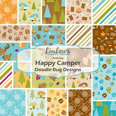 Happy Camper Fat Quarter Bundle by Doodlebug Design for Riley Blake Designs