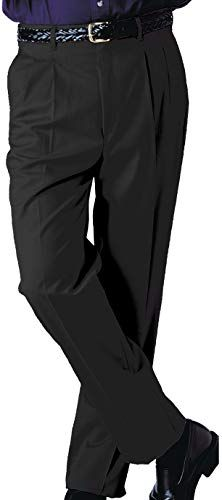 Buy Edwards Men S Business Casual Pleated Chino Pant Black Online