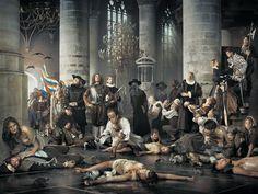 Erwin Olafs hedendaagse fotografische interpretatie van een historiestuk over Leidens Ontzet