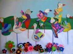 Птицы из картона - Сайт для мам малышей
