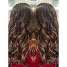 Image result for brunette soft painted dimensional highlights