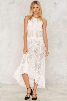 Ali Lace Dress - Midi + Maxi