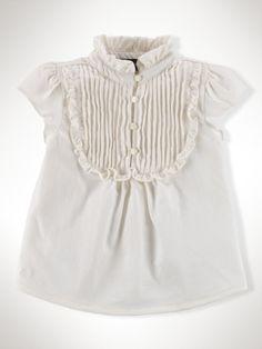 Ruffled Bib-Front Top - Infant Girls Tops - RalphLauren.com