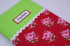 Tagebuch Rose+grün von Sweet Homemade Things by christina prinz auf DaWanda.com
