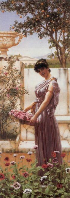 Çiçek Toplayan Kadın Oryantal Tablo - ory 1354