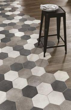 Bath Room Tiles Hexagon Woods 37 Ideas For 2019 Room Tiles, Bathroom Floor Tiles, Kitchen Tiles, Kitchen Flooring, Kitchen Wood, Kitchen Colors, Tub Tile, Bathroom Grey, Master Bathrooms