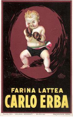 ✔️ Farina Lattea Carlo Erba - Mauzan - 1925