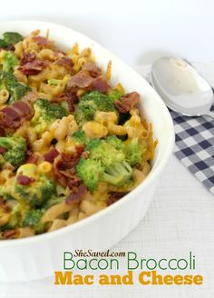 ... Bacon Broccoli Mac and Cheese Recipe is just that! It is an easy to