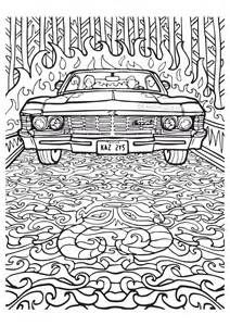 Supernatual Coloring Page Cool Coloring Pages Coloring Books