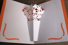 Flower Vase Pop-Up Card.                                                                                                                                                                                 More