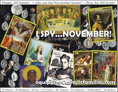 I Spy…ALL SAINTS in NOVEMBER!   Equipping Catholic Families