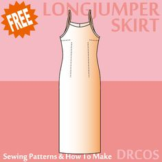 Long jumper sewing patterns & how to make. Scroll down for pattern