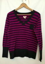 Stripped Pink and grey sweater!