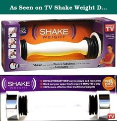 As Seen on TV Shake Weight Dumbell & DVD (3-Pack). Get strong, sexy, sculpted arms you'll be proud to show off with the Shake Weight!. utilizes workout technology called Dynamic Inertia, which increases muscle activity by more than 300% compared to traditional weights. Get incredible results in just 6 minutes a day!.