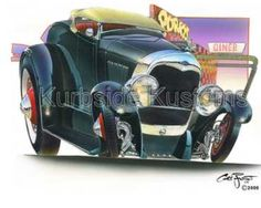 Chris Froggett hot rod art
