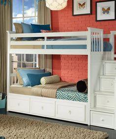 Look at this #zulilyfind! School House Stair Trundle Loft Bunk Bed #zulilyfinds