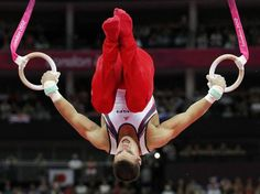Jake Dalton competes on the rings during the team men's gymnastic artistic team final at the North Greenwich Arena during the London 2012 Olympics on Monday, July 30, 2012 in London.