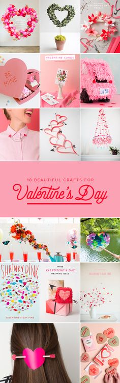 Since we love Valentine's Day and so should you, we rounded up 18 of our best Valentine's Day crafts! Lovely!