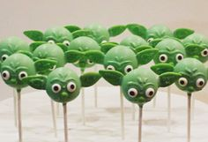 Star Wars Yoda Cake Pops by myangelpops on Etsy