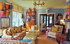 Vintage Farmhouse: Mayme Baker.   Such great use of color and texture with an eclectic twist